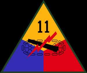 znak 11. obrněné divize 3. americké armády