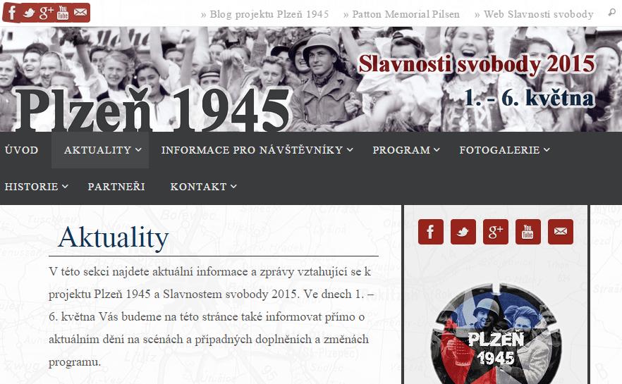 Web 1945 aktuality