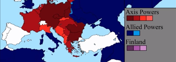 Sleduj změny území během války den po dni