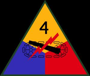 znak 4. obrněné divize 3. americké armády
