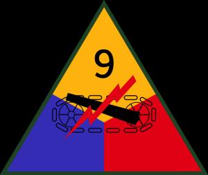 znak 9. obrněné divize 3. americké armády