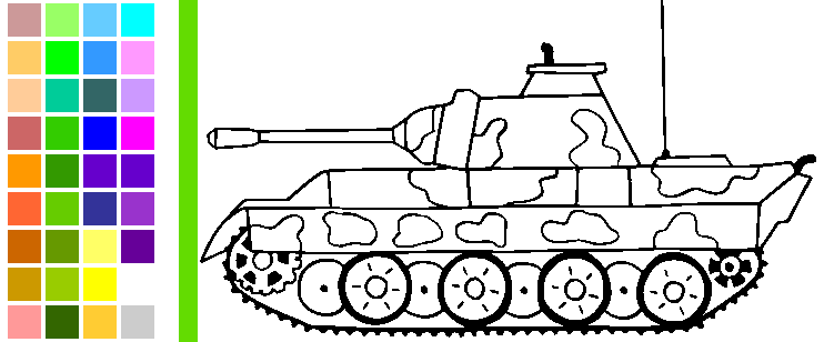 Vybarvi si obrázky vojenské techniky